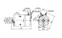 DC Motor Gleichstrommotor 12V/1,6KW f.Hubladebühne Dautel IM0117 AMJ5884 11216996 AMJ5701 11216077 AMJ5189 11212684 - 1