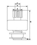 Ritzel 10z f.Valeo Anlasser 594657 D7G11 - 1