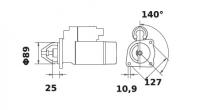 Anlasser Reduktionsgetriebestarter 12V/3,2kW 11z f.Mahle MS223 IS1384 11132154 AZE4239 3218192EX 3218674R91 3228192R91 000135407 - 1