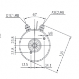DC-Motor Gleichstrommotor CR 48V/2,0KW f.Concentric Haldex 48MB42TWA 48MB82TWA - 1