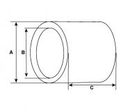 Buchse f.Anlasser AD mm 16.03  ID mm 12.58  Länge mm 11.90 - 1